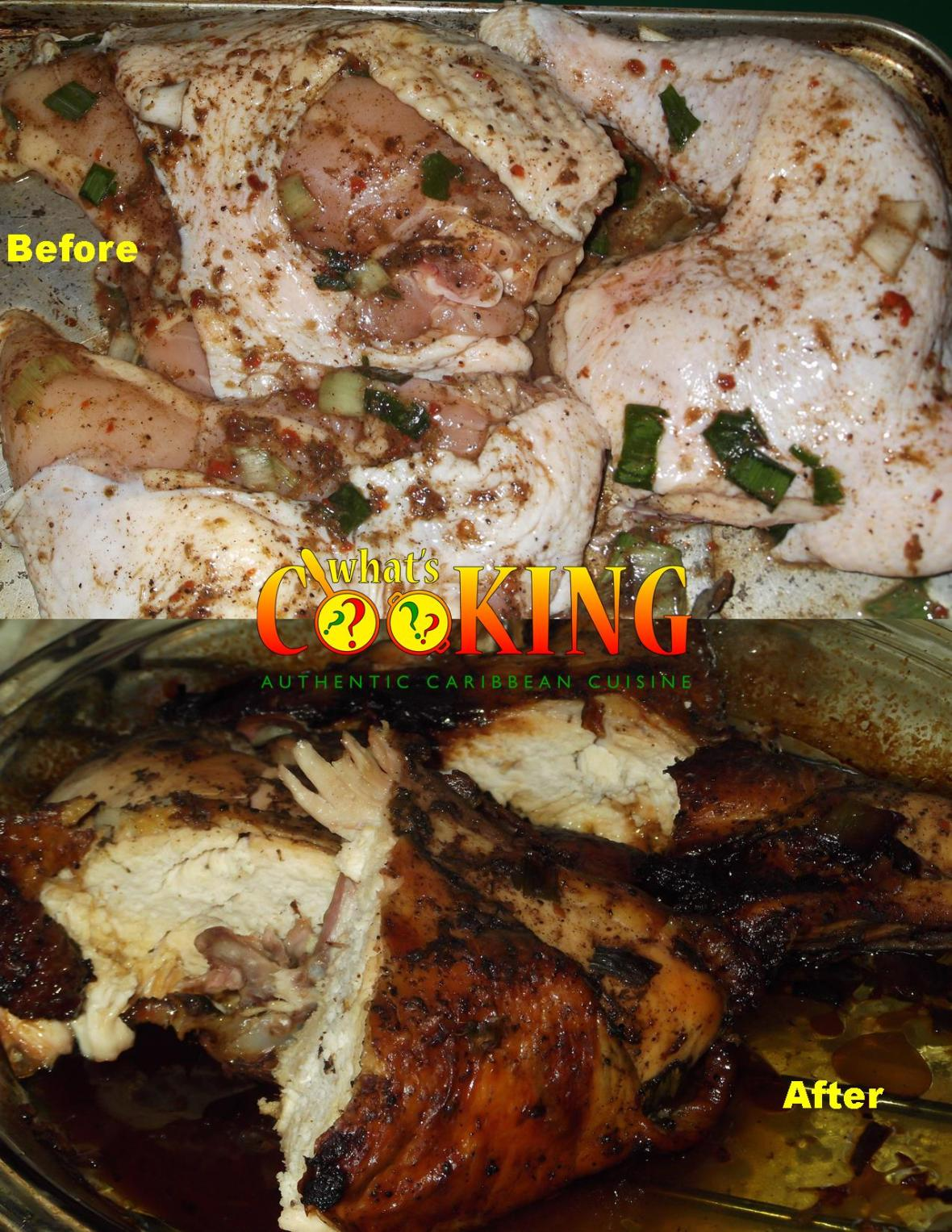 before and after jerk chicken
