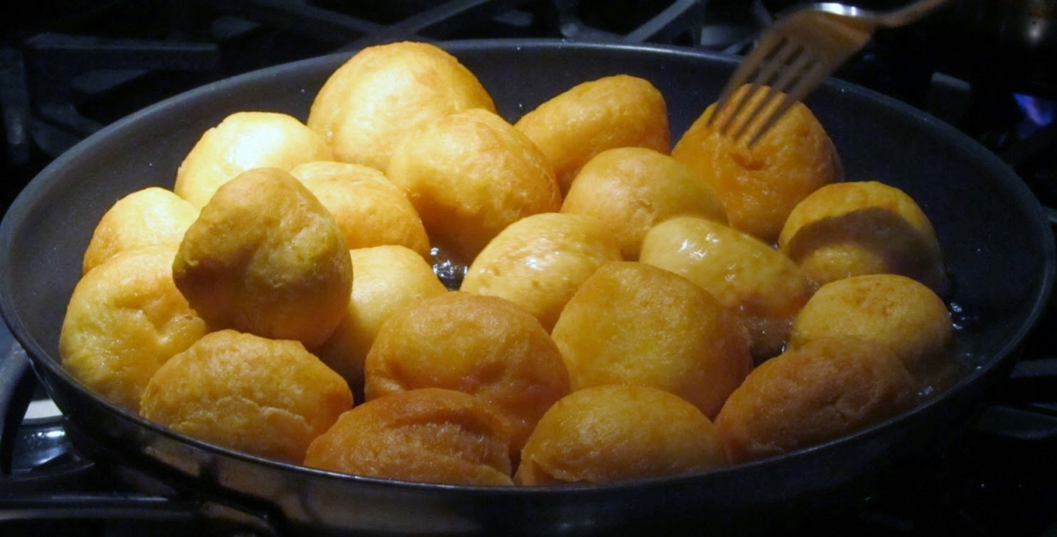 Jamaican fried dumplings and festival