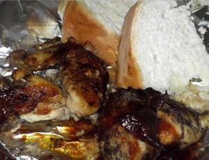 Jerk chicken and hardough bread II