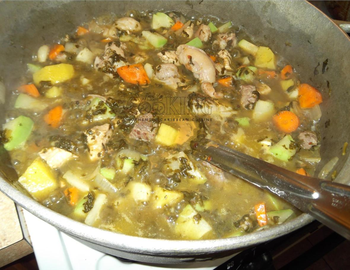 making Pepperpot Soup