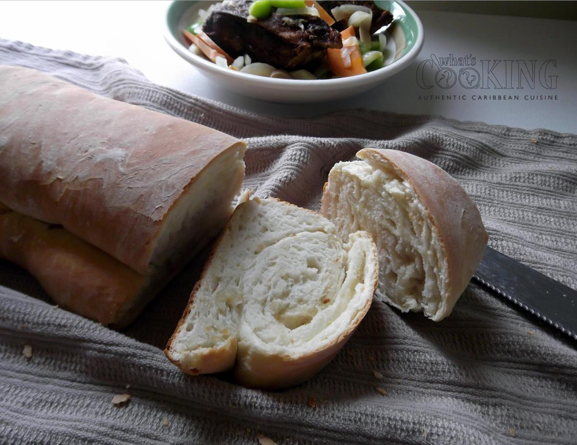 fresh sliced hardough bread