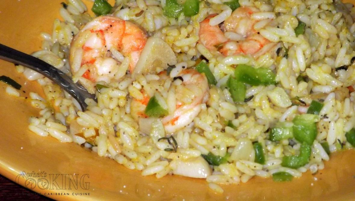 Pumpkin Rice with Shrimp II