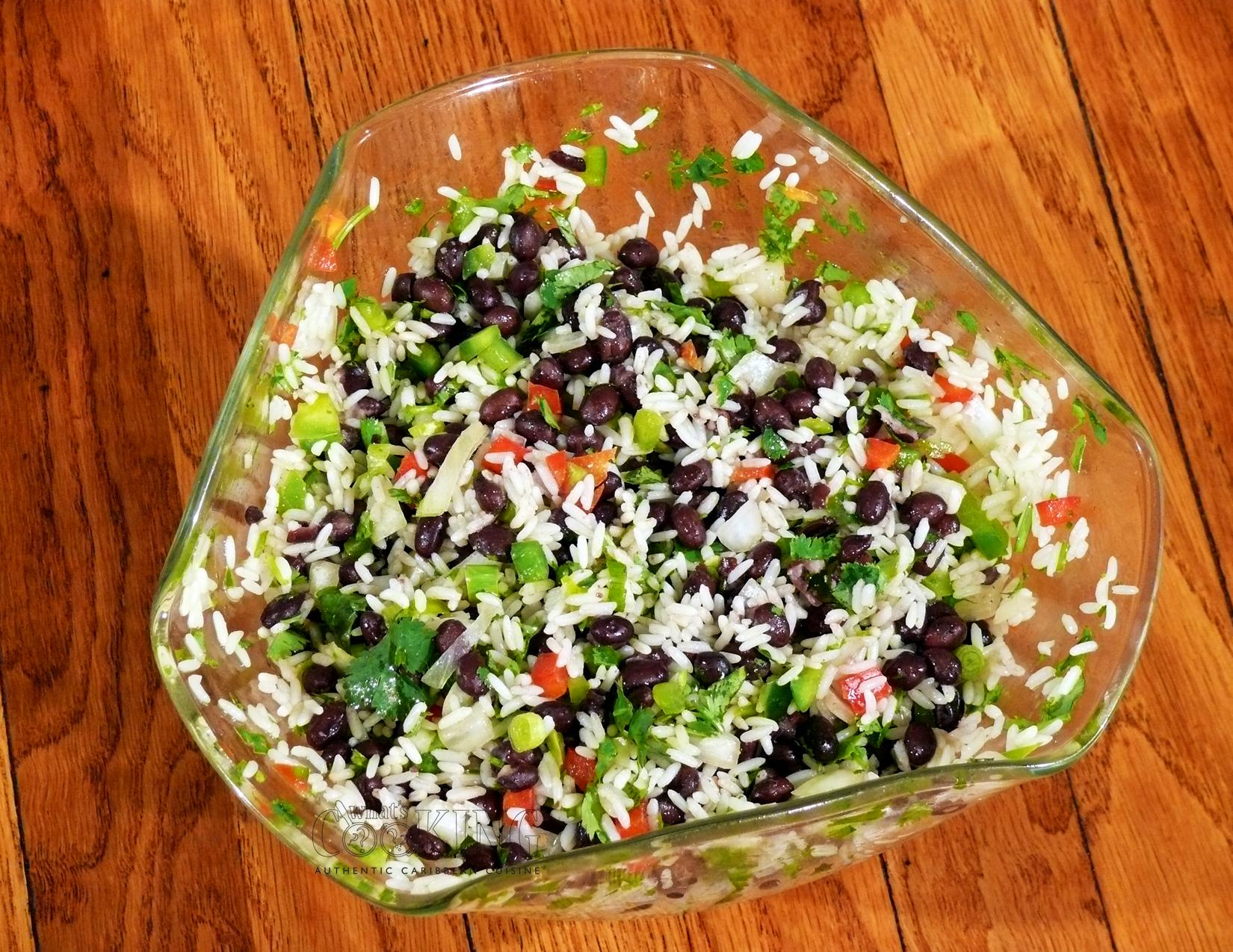 My own variation on the very popular Spanish dish, frijole negro y ...