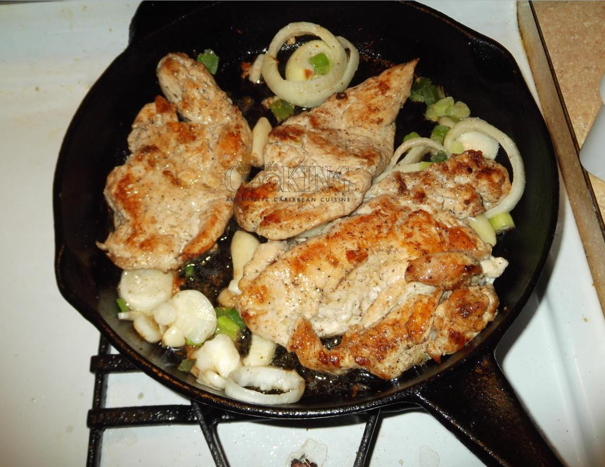 pollo con cebolla in progress