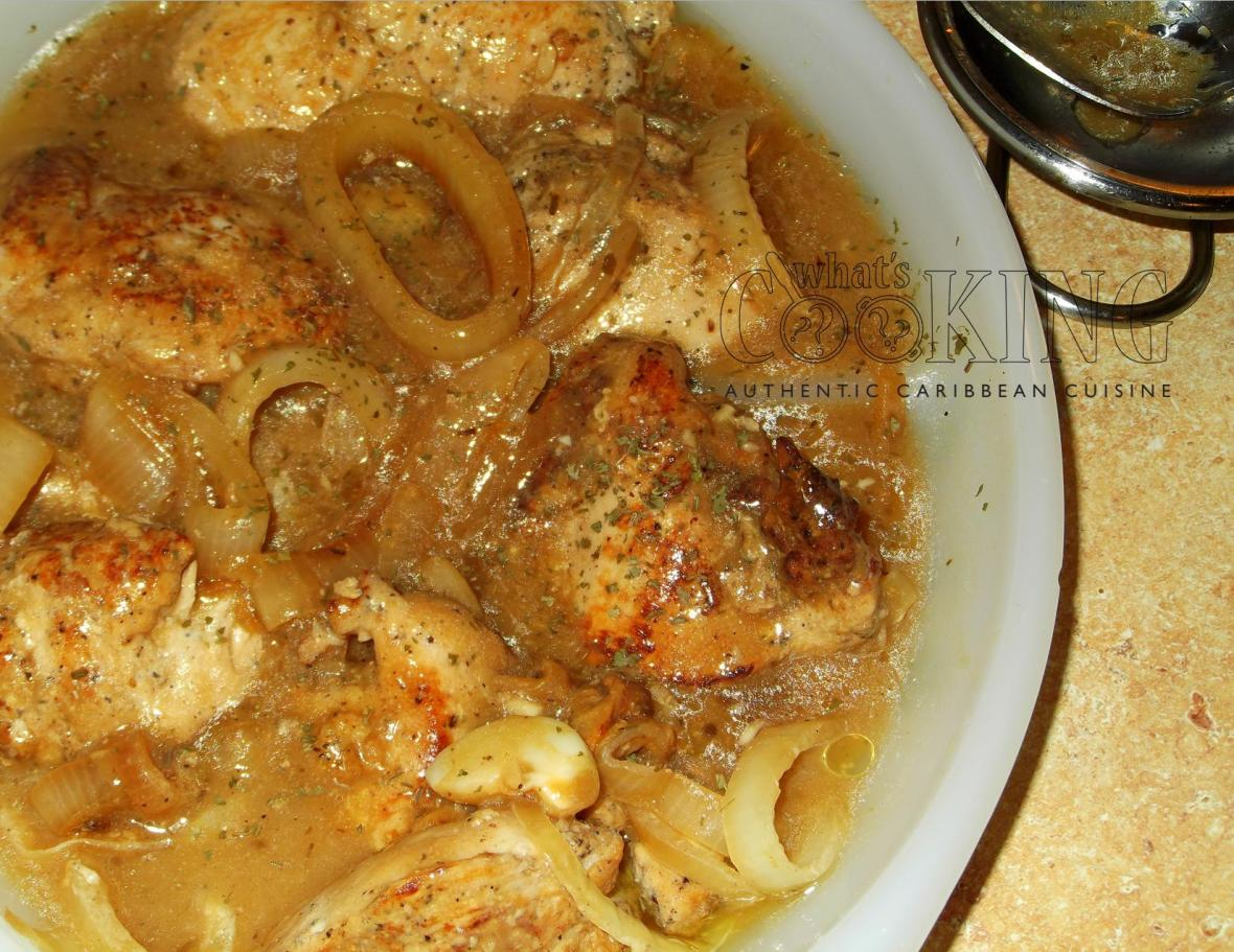 Pollo con cebolla