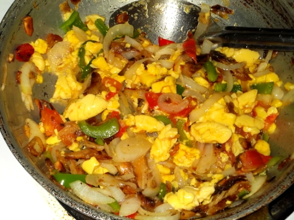Cooking ackee and saltfish