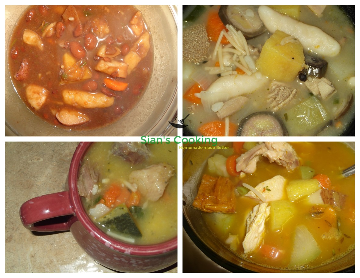 caribbean soups collage